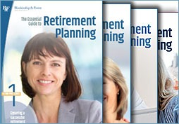 Thumbnails of the 4 parts of the retirement guide