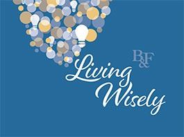 Living Wisely graphic with lightbulbs
